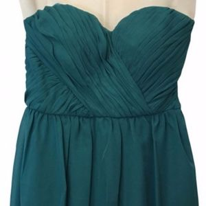 Adrianna Papell Teal Strapless Dress Jr 7/8  NWT